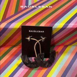 Baublebar black jeweled resin drop earrings